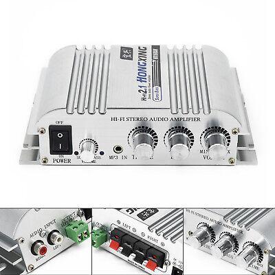 Mini Super Bass Audio Amplifier Hi-Fi Car Stereo 2.1 Booster Subwoofer 300W 12V ()