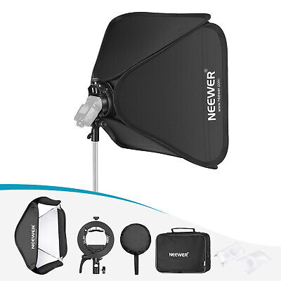 Neewer 32x32 inches Bowens Mount Softbox 80x80cm with  S2-Type Flash Bracket