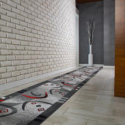Hochwertig Modern Teppichläufer Küchenmatte Teppich Läufer Dunkelgrau - 4596