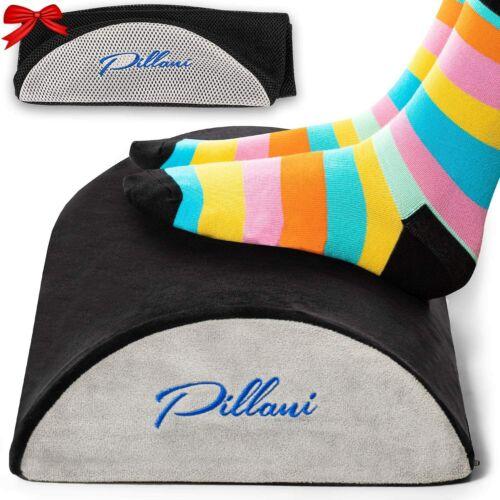 PILLANI Foot Rest Under Desk Work Stool Office Foam Cushion Non-Slip 2 covers