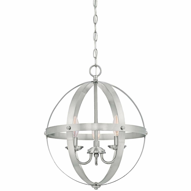 3 Light Pendant Lighting Globe Chandelier Sphere Lamp Fixtur