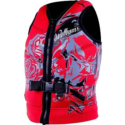 Williams Mens Sector Neoprene Life Jacket Vest RED Plus Size 3XL
