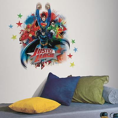 JUSTICE LEAGUE Giant WALL DECALS Batman Superman Flash Stickers NEW Room Decor](Cheap Wall Decals)
