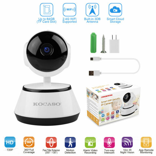 Wireless Home Security Cameras HD Wifi Night Vision Monitor