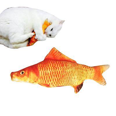 3D Soft Pet Cat 20cm Red Carp Plush Fish Chewing Toys Stuffed Mint Pet Kitten  - Plush Fish