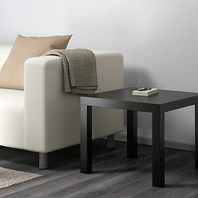 Small Black Coffee Table Side Furniture Living Room Ikea Plastic Lack Tea...