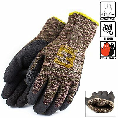 Better Grip Military Brown Insulated Winter Rubber-coated Gloves-bgwlac-mt