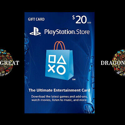 $20 PSN Digital Card - Playstation Network $20 USD PS4 PS3 - US Gift Card [US]
