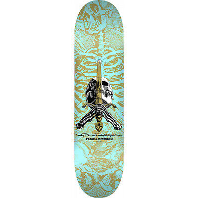 "Powell Peralta Skateboard Deck Skull and Sword Turquoise 8.5"" x 32.08"""