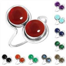 925 Sterling Silver Gemstone Ring Women Jewelry Size 5 6 7 8 9 10 11 12 13 Uy352