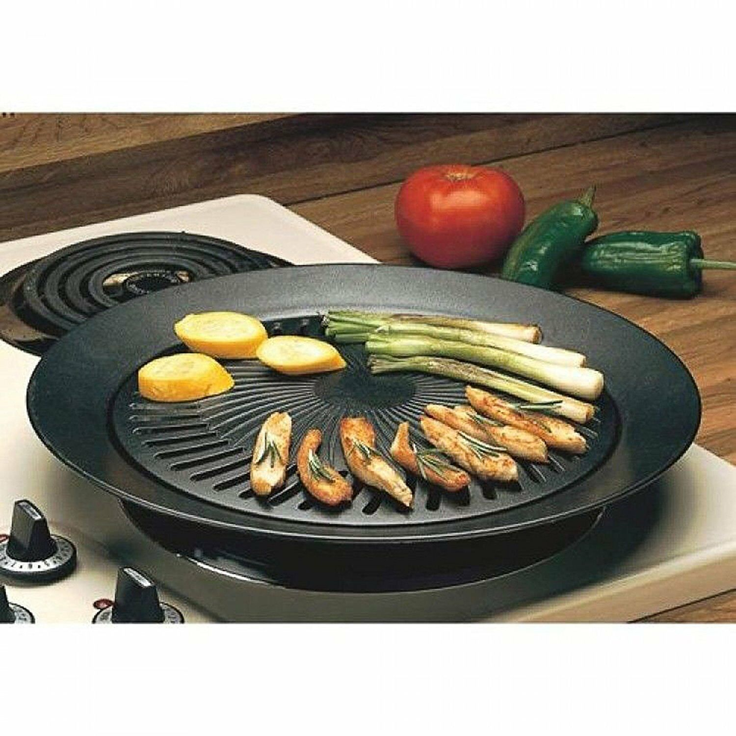 Hibachi Cast Iron Stovetop Grill Griddle Pans Top Indoor Acc