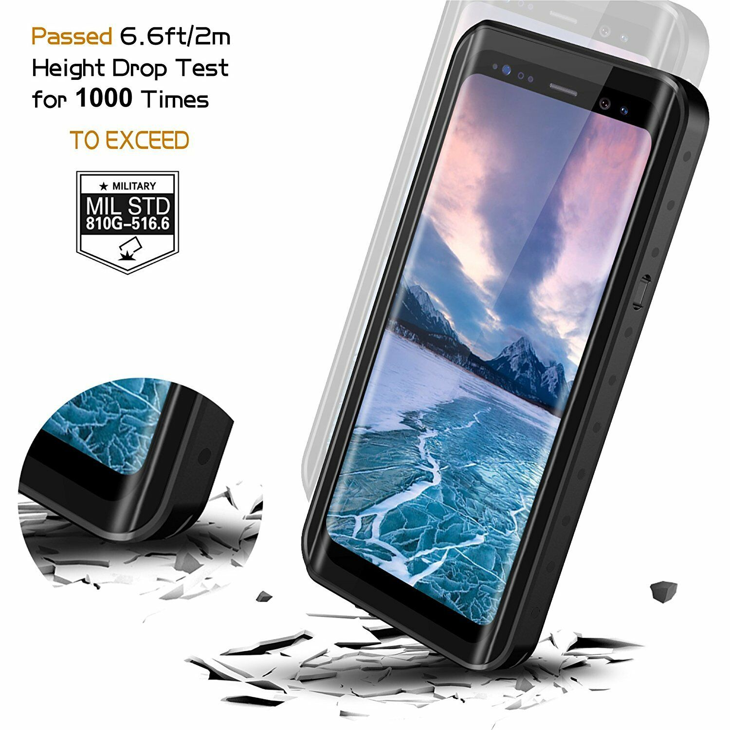 Galaxy S9 Plus Case Waterproof Shockproof Underwater Cover with Screen Protector