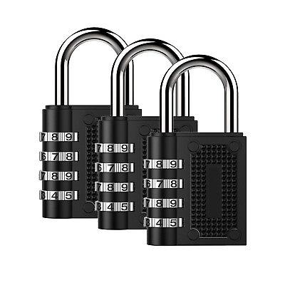3 Pack Lock Suitcase Luggage Coded Lock Cupboard Cabinet Locker Padlock