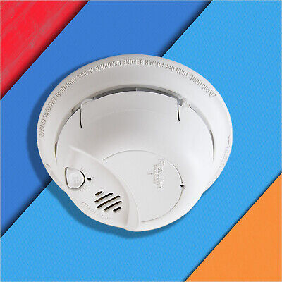 Fire Smoke Sensor Detector Alarm Hard Wired and Battery Backup Ionization Detect