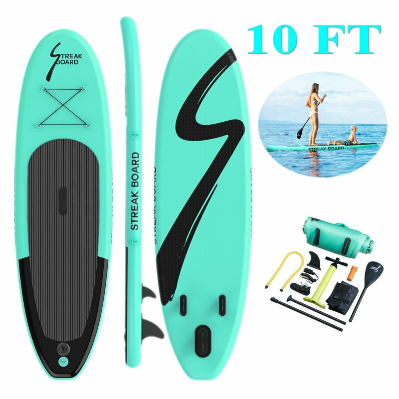 """6"""" Thick Inflatable StandUp Paddle Board Non Slip SUP Deck with Complete Kit"""