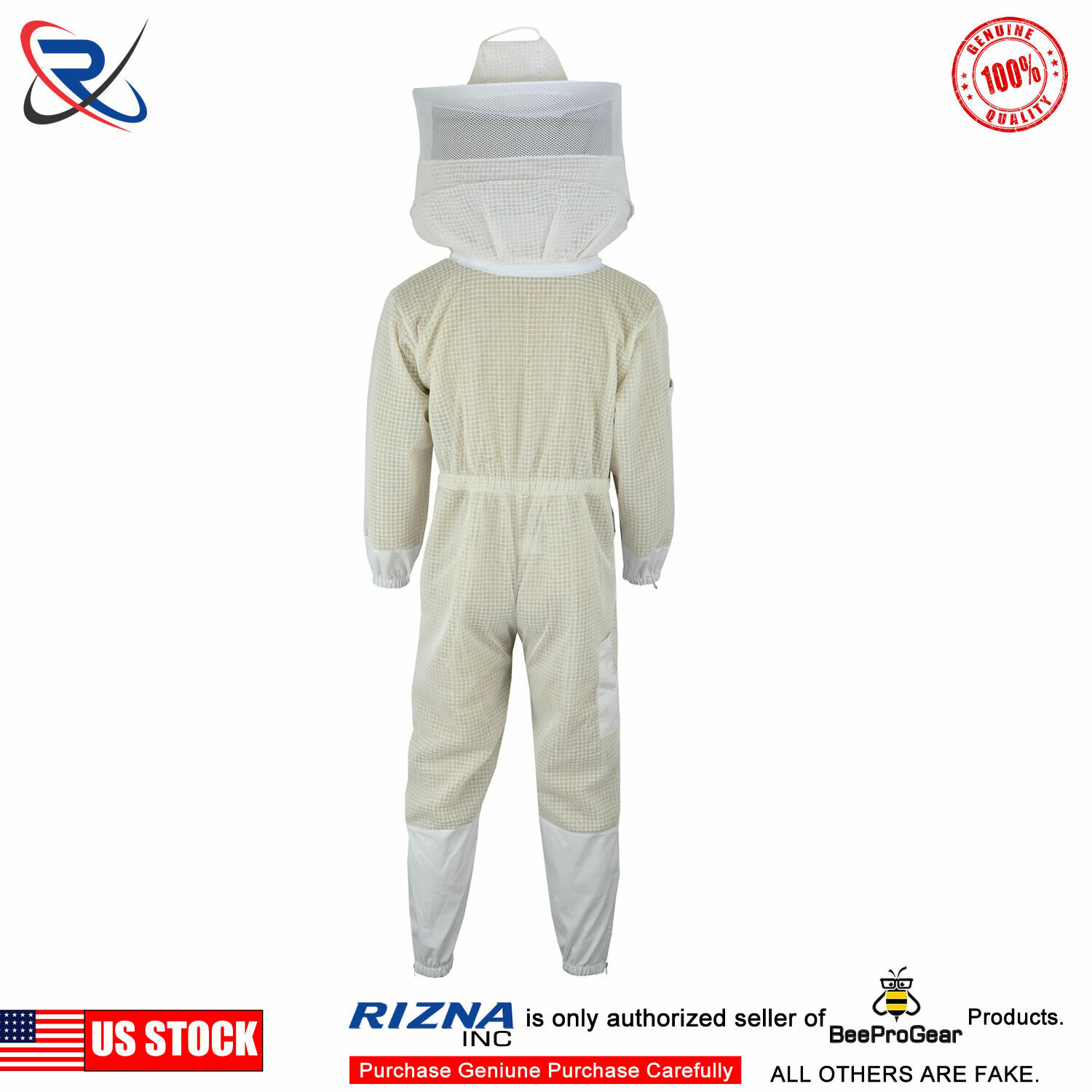 Bee Suit Ultra Ventilated 3 Layer Beekeeping Beekeeper Suit Round Veil 3XL /&02