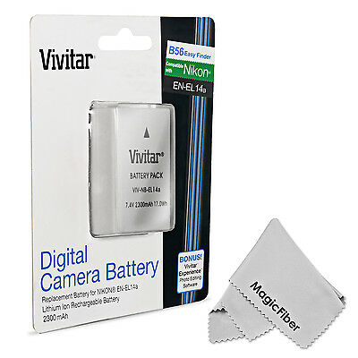 Vivitar EN-EL14a Battery for Nikon DF D5500 D5300 D5200 D5100 D3300 D3200 D3100