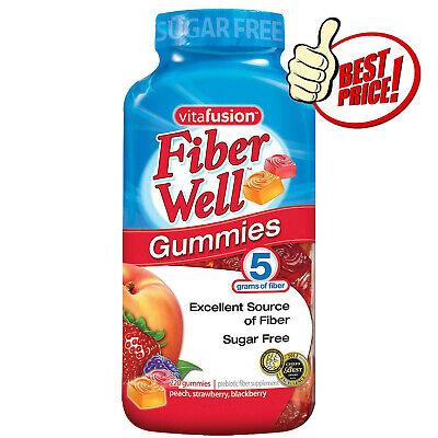 Vitafusion Fiber Well Gummies Vitamin Supplement 220 CT Sugar Free BEST DEALS IN