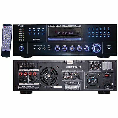 PYLE HOME PD1000A 1,000-Watt AM-FM Receiver with Built-in DVD Player NEW