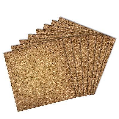 Thorntons Bulletin Board Cork Wall Tiles Natural 12 X 12 Frameless 8 Pack