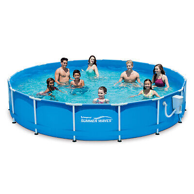 US ¡NEW! Summer Waves HOME 15 FT Active METAL FRAME Above Ground POOL ! HOT