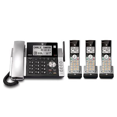 AT&T DECT 6.0 Corded/Cordless 3 Handset Home Phone Answering System Caller ID