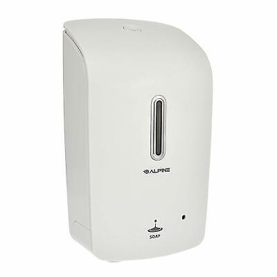 Alpine Industries White Wall Mount Automatic Hands-free Liquid Soap Dispenser