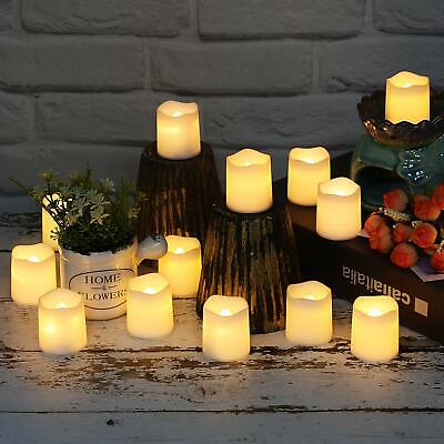 24/48/72/96X Flameless Votive Candles Battery Operated Flickering LED Tea Light - Battery Operated Votives