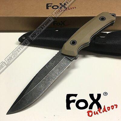 KNIFE COLTELLO FOX OUTDOOR 323 DA CACCIA SURVIVOR SURVIVAL SOPRAVVIVENZA TAN
