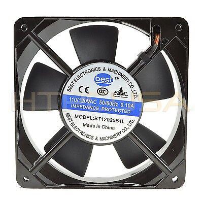 120mm x 25mm 110V 115V 120V Ball Bearing AC Cooling Fan – Low Speed NEW