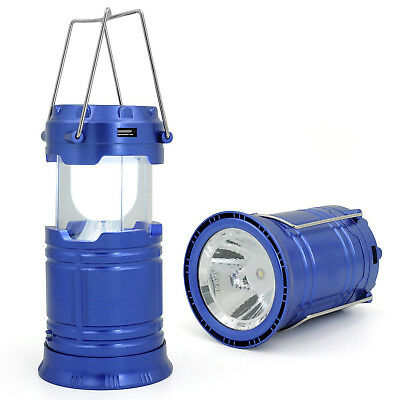 LANTERNA LAMPADA DA CAMPEGGIO TREKKING PESCA RICARICABILE AD ENERGIA SOLARE LED