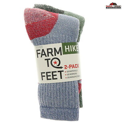 550726fbb Farm to Feet Mid-Calf Hiking 2 Pairs Socks Medium ~ New