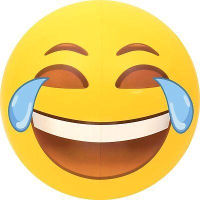 Large Emoji Laughing Tears Of Joy Beach Ball 27  Summer Pool Fun