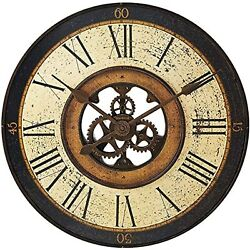 Howard Miller Brass Works Wall Clock 625-542  32 Antique Oversized Gallery with