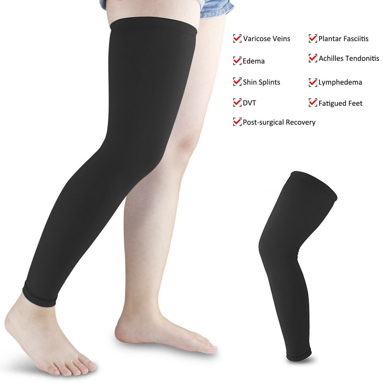 Compression Socks Knee High Support Stockings Gym 20-30mmHg
