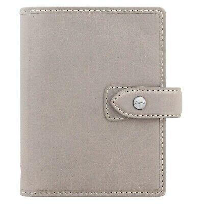Filofax Malden Stone Pocket Size Leather Organizer Agenda 2019 Calendar 025812