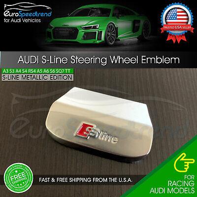 Audi S-Line Steering Wheel Emblem Sport Badge A3 A4 A6 Q3 Q5 Q7 S Line Metallic