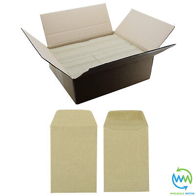 Small Brown Envelopes 98 x 67mm 80gsm For Dinner Money Wages Coin Beads & Seeds