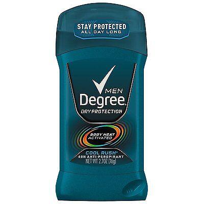 Degree Men Dry Protection Antiperspirant   Deodorant  Cool Rush 2 7 Oz Lot Of 6