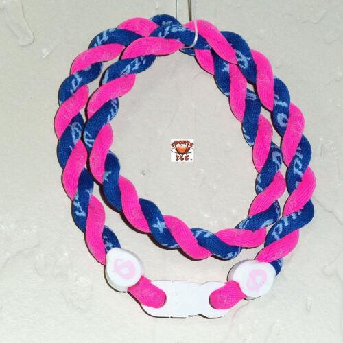 Phiten Tornado Necklace Custom: Hot Pink/Royal Blue