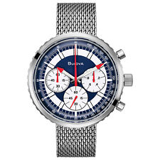 Bulova Special Edition Men's Quartz Chronograph Red Accents 46mm Watch 96K101