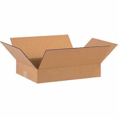 16 X 12 X 3 Flat Corrugated Boxes 65 Lbs Capacity 200ect-32 Kraft Lot Of