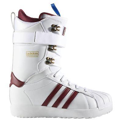 Adidas Original Superstar Adv Snowboard Stiefel HERREN Weiß Winter Warm Bequem ()