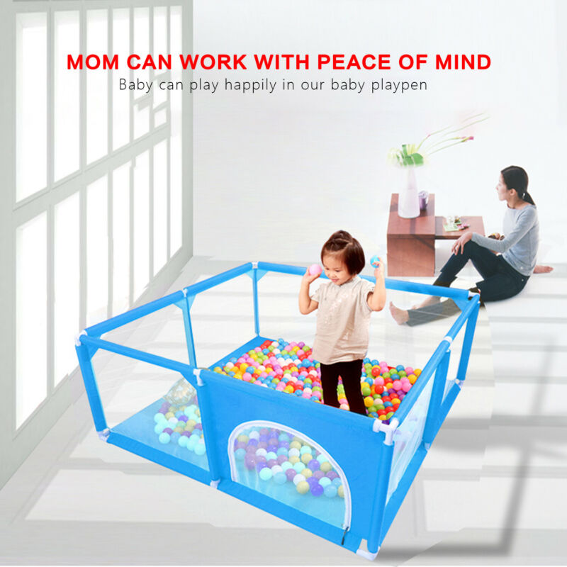 Baby Safety Play Yard Kids Activity Center Toddlers Folding Home Fun Playpen
