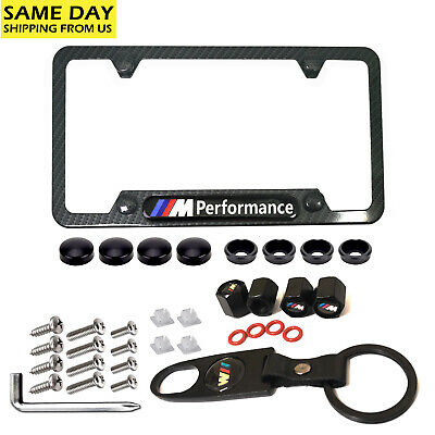 1Set Carbon Fiber for M License Plate Frame ,for BMW Wheel Tire Valve Stem Caps