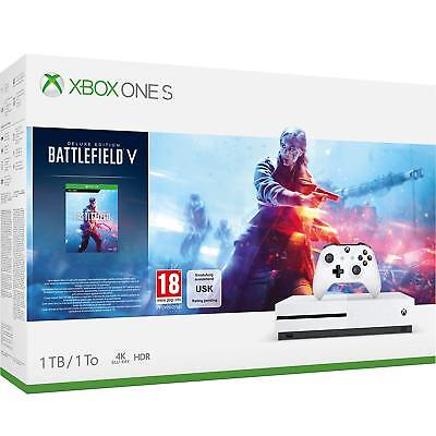 Xbox One S 1TB Console Battlefield V Bundle **Brand New Sealed** UK Stock