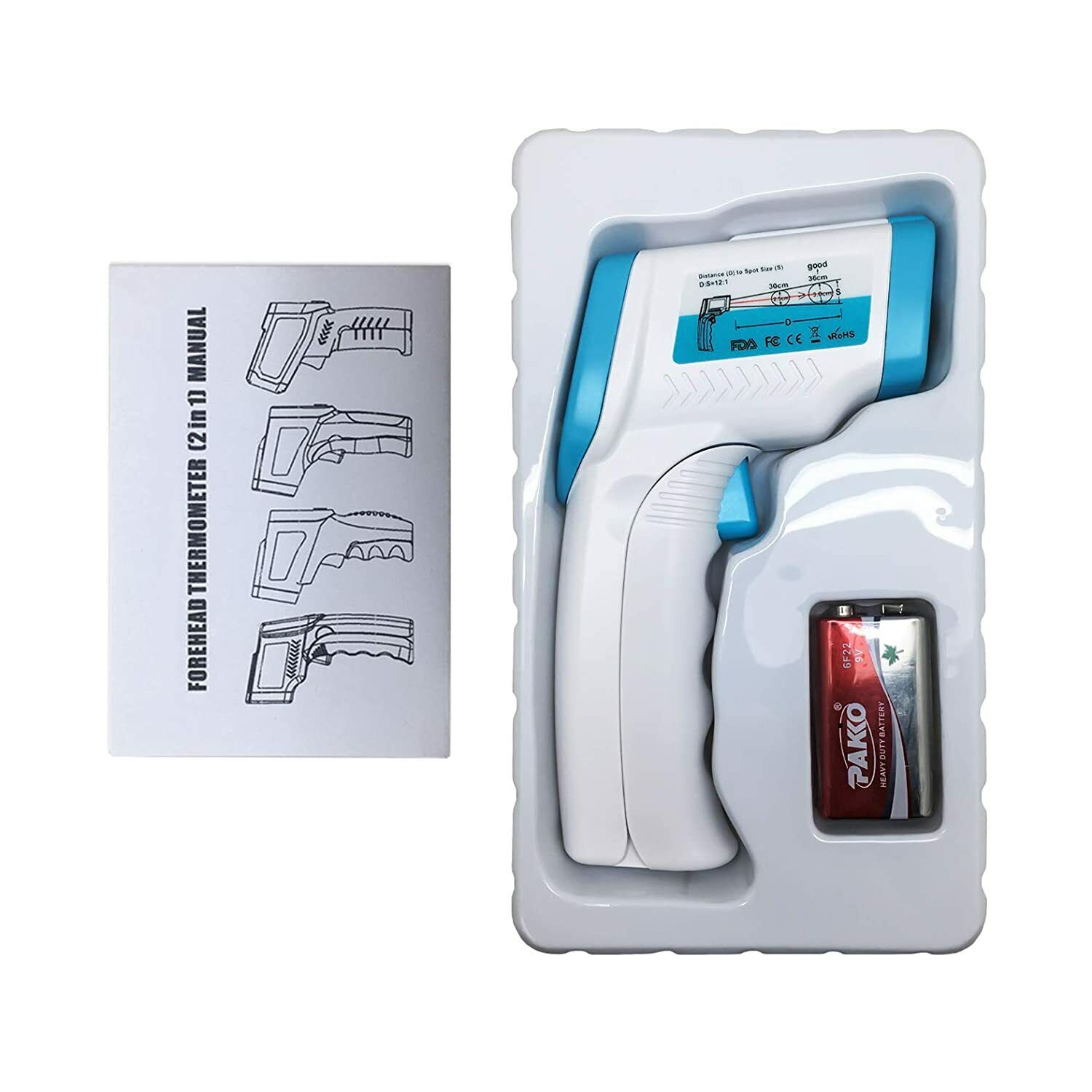 Non-Contact IR Infrared Forehead Thermometer with 3 Functions – °F and °C Modes Business & Industrial