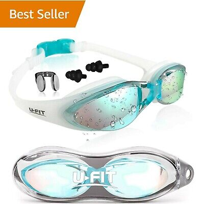 UFIT Swimming Goggles For Men Women Adults - Best Non Leaking