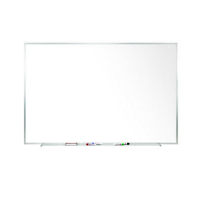 Ghent Magnetic Painted Steel Whiteboard with Aluminum Frame 4'H x 8'W M3484](Magnetic Whiteboard Paint)