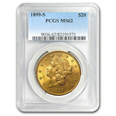 1899-S $20 Liberty Gold Double Eagle MS-62 PCGS - SKU#64414